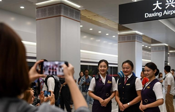Journalists from home and abroad visit Beijing Daxing International Airport