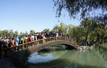 Tourists visit Chengde Mountain Resort during National Day holiday in China's Hebei
