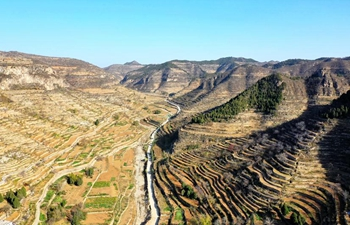 Aerial view of Shexian County in north China's Hebei