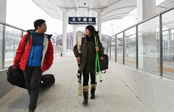 Operation of Beijing-Zhangjiakou high-speed railway line brings convenience to skiers