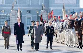 China, Spain agree to advance ties during Xi's visit