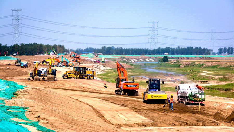 雄安观察丨记者眼中的南拒马河防洪治理工程