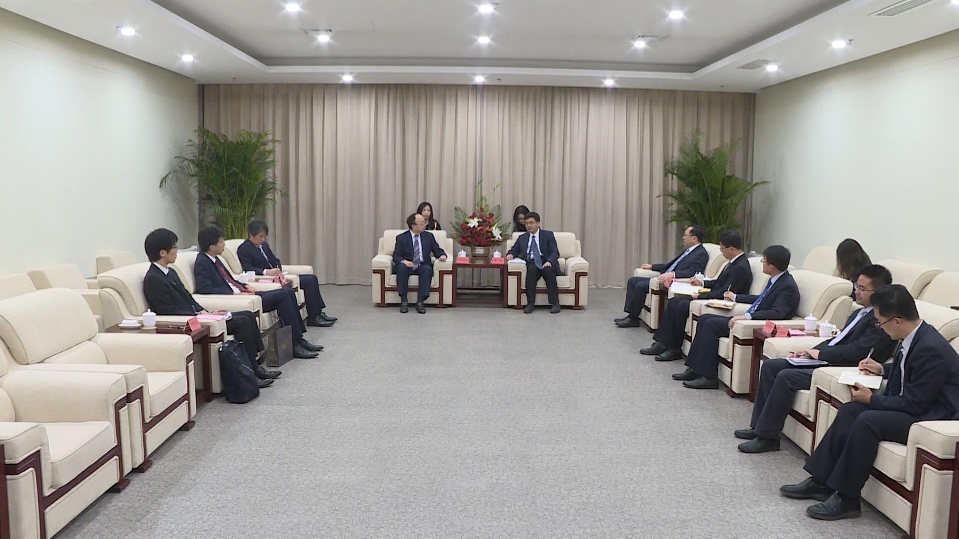陈刚会见日本银行副行长雨宫正佳一行