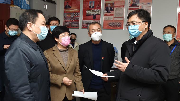 陈刚在容城县调研疫情防控和复工复产工作