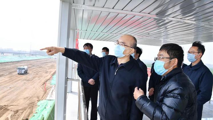 3月30日 河北省省长许勤到雄安新区调研检查