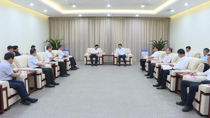 陈刚与衡水市党政代表团举行工作座谈