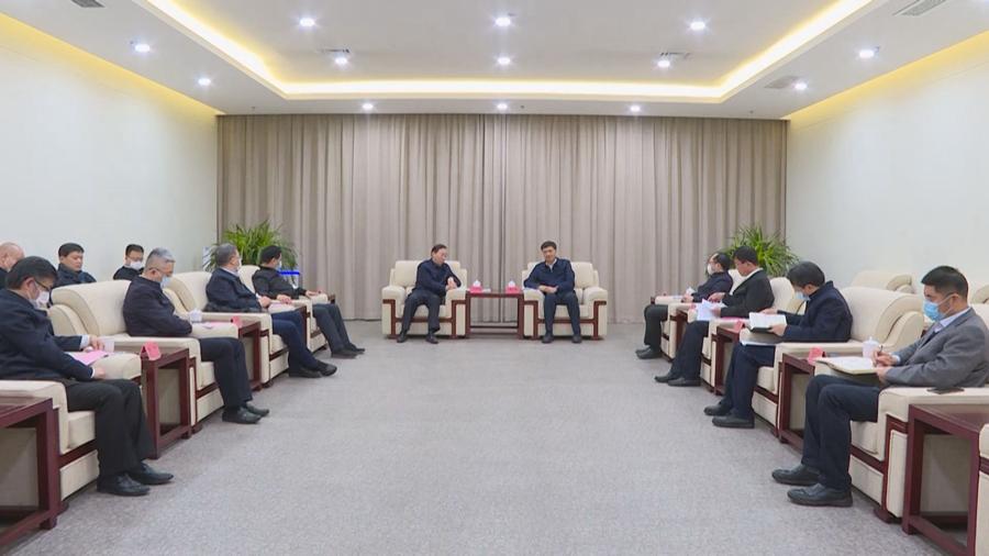 视频丨陈刚与国家电网有限公司总经理辛保安一行举行工作座谈