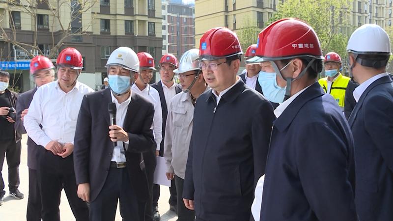 张国华调研容东片区和容西片区重点项目建设及城市运营管理