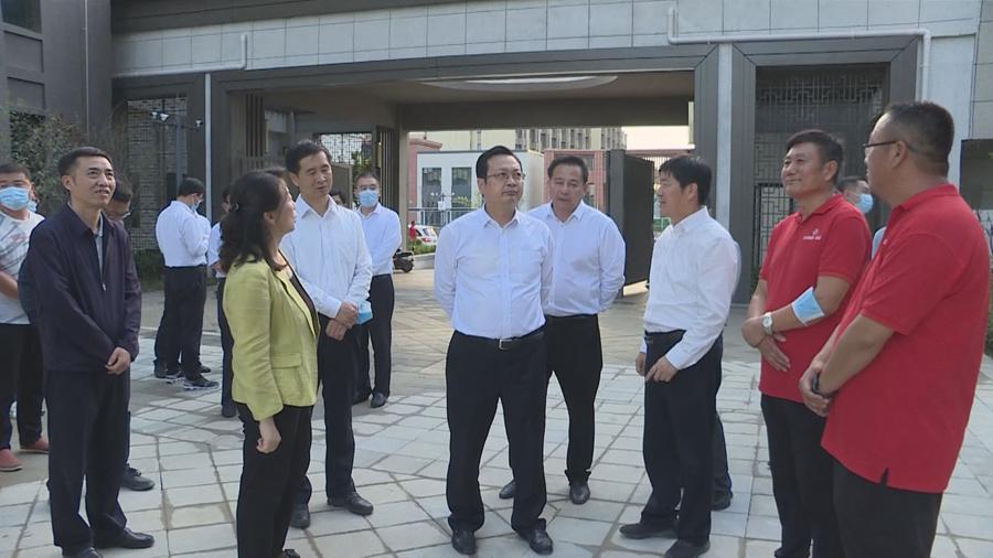 张国华赴容东片区调研安置房及配套设施建设收尾工作