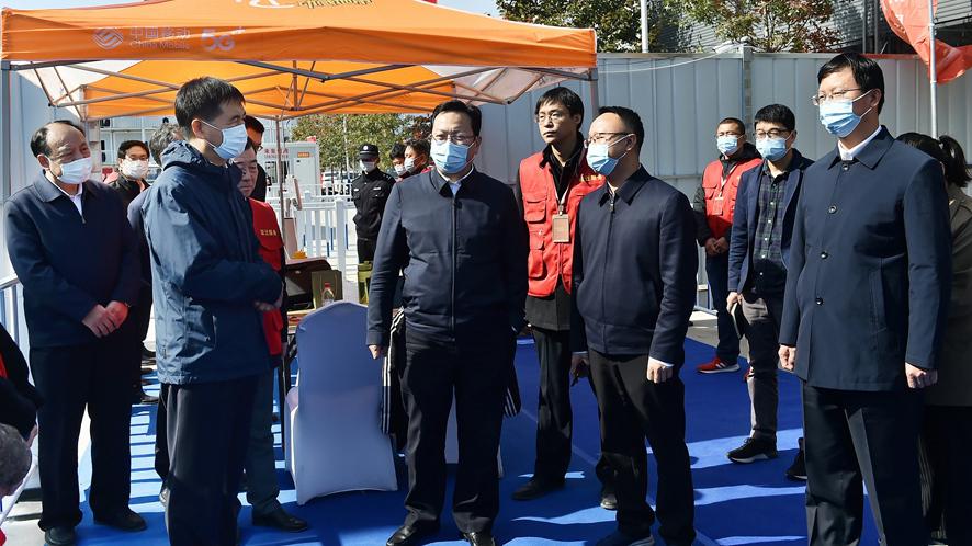 张国华调研容东片区首批安置房分配工作