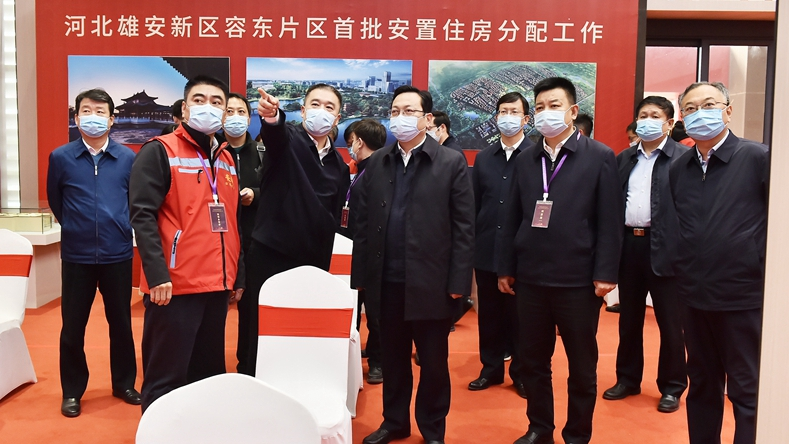 张国华在安新调研容东片区首批安置房分配工作