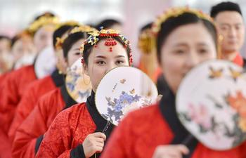 Traditional Han-style wedding held in N China's Hebei