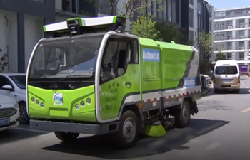 Driverless street sweepers put into use in Shanghai