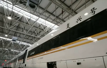 New 16-carriage Fuxing bullet train delivered in N China