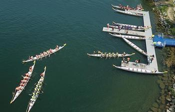 People enjoy holiday time during Dragon Boat Festival across China