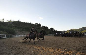 Riders take equestrian training in Chengde, N China's Hebei