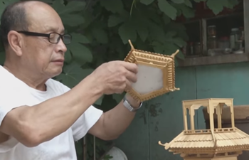 Trash to treasure! Chinese craftsman turns popsicle sticks into architecture models