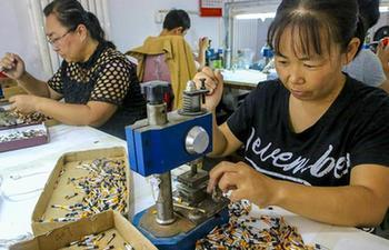 Cosmetic brush production workshop introduced to alleviate poverty in China's Hebei