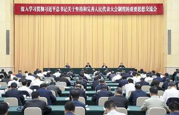 Top legislator stresses Xi's thought in advancing people's congresses system