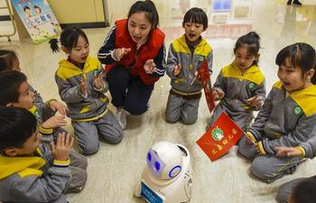 Children visit mobile science and technology museum in China's Hebei